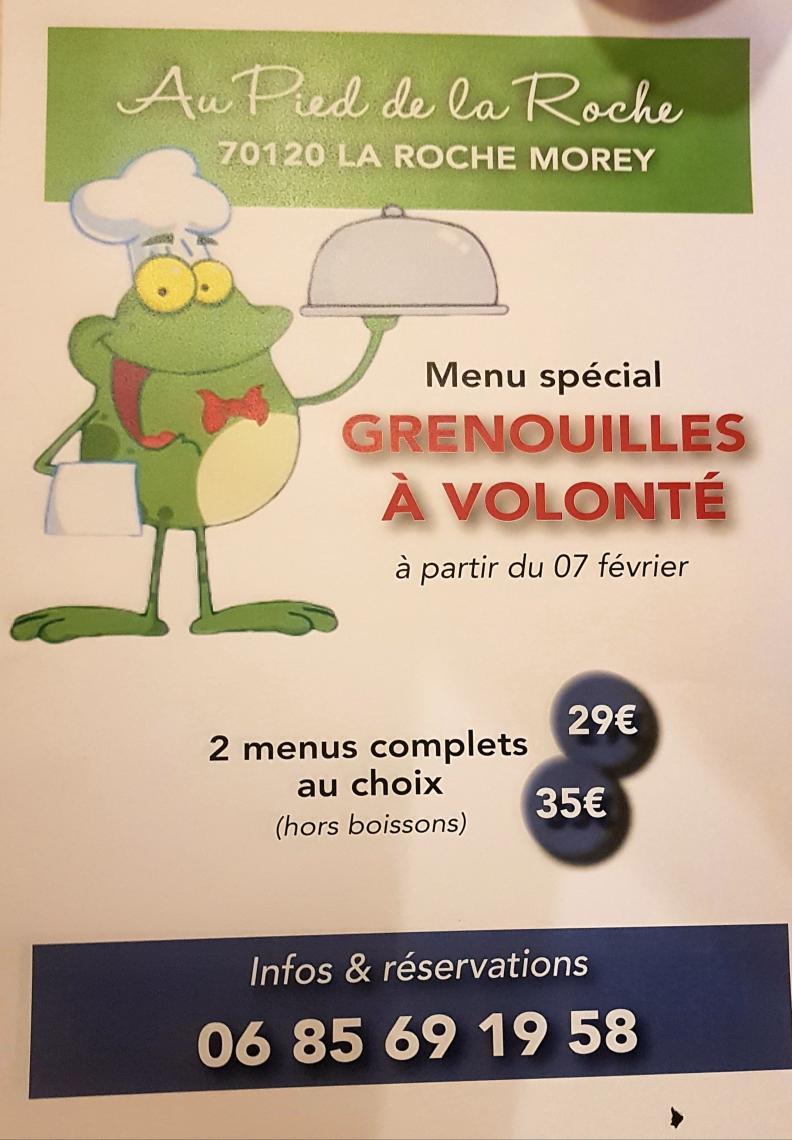 Menu grenouilles